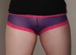 See-through purple and pink panties - £14