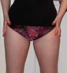 Luxury patterned silky panties - £18