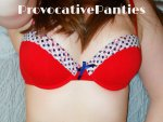 Red bra and panty set - £20