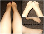 6 photos of my feet in pantyhose - £3
